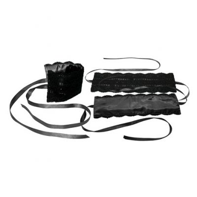 Sportsheets Black Satin Lace Kit Bondage Restraints