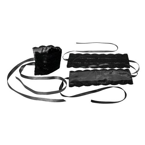 Sportsheets Black Satin Lace Kit Bondage Restraints