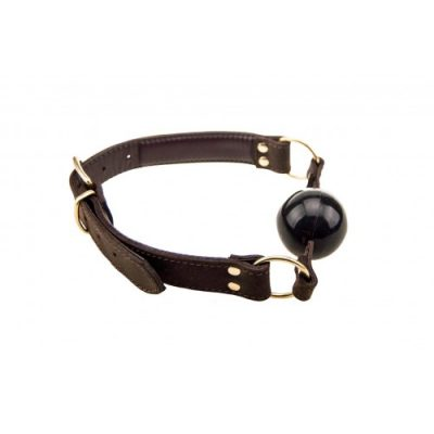 Bound - Nubuck Leather Solid Ball Gag