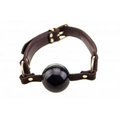 Bound - Nubuck Leather Solid Ball Gag frontal view