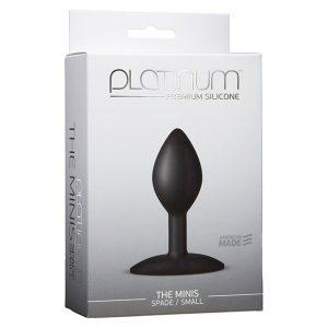 Doc Johnson - Platinum The Mini's Spade Medium Butt Plug Packaging