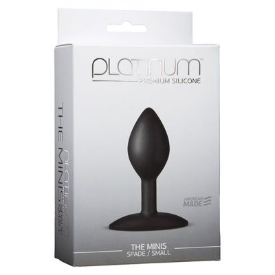 Doc Johnson - Platinum The Mini's Spade Medium Butt Plug Packaging