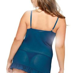 Fantasy Lingerie - Curve Plus size Chemise and Thong Set Rea