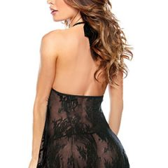 Fantasy Lingerie - Lace Chemise and G-string Set Rear