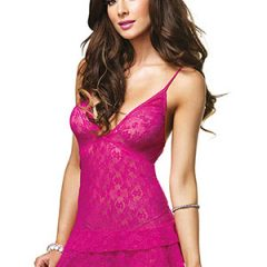 Leg Avenue - Lace Chemise with Ruffle Skirt