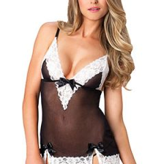 Leg Avenue - Lace Mesh Chemise and G-string Set