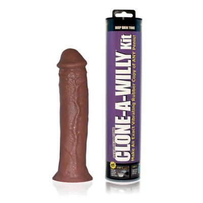 Clone A Willy kit - Vibrating Dildo Kit Deep Skin Tone
